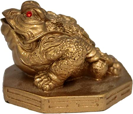 excellent Vintage Bronze troops Bring Wealth Dragon toad Buddha Statue