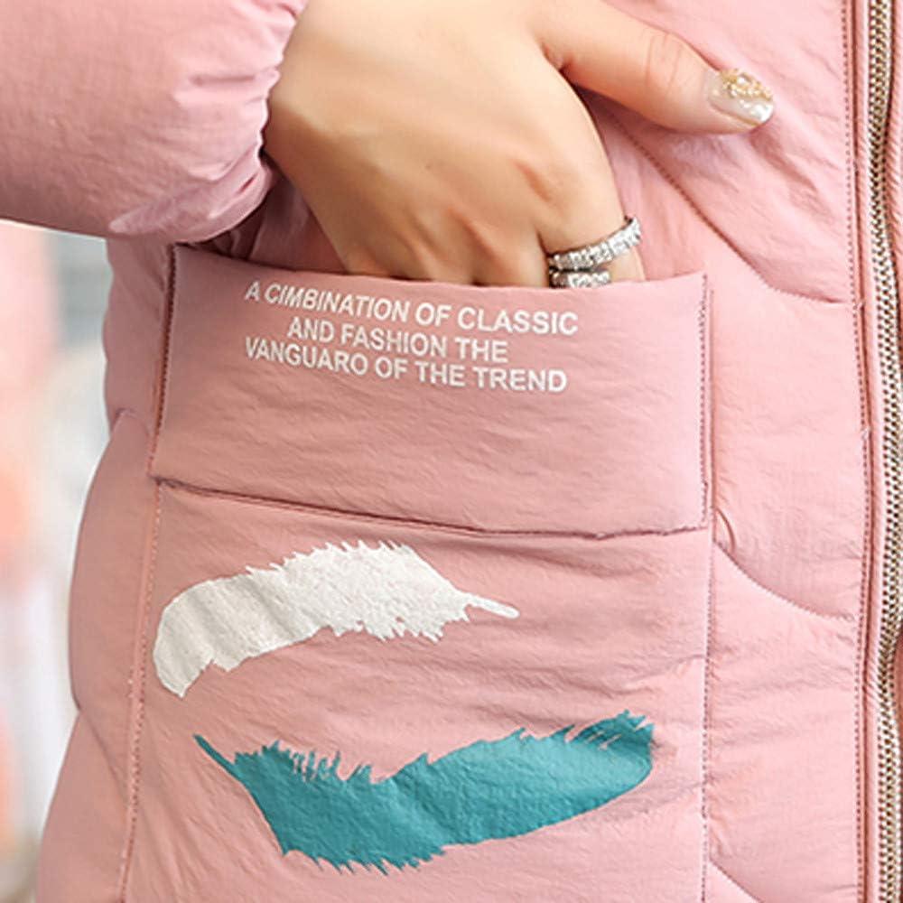 Long Denim Jacket for Women Plus Size,Women Hooded Outwear Warm Coat Long Thicker Fur Collar Cotton Parka Slim Jacket