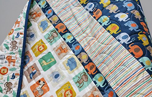 Elephant Baby Quilt by Now and Then Quilts