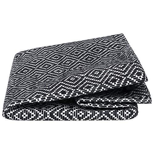 """DII Woven Paper Basket or Bin, Collapsible & Convenient Home Organization Solution for Bedroom, Bathroom, Dorm or Laundry(Medium Round - 14x17""""), Black & White Diamond Basketweave by DII (Image #3)"""