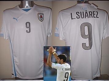 Uruguay Luis Suárez Puma - Camiseta de fútbol adulto grande Nueva Barcelona Top: Amazon.es: Deportes y aire libre