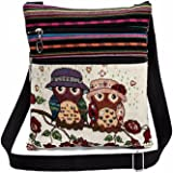 Fashion Embroidered Owl Tote Bags Women Shoulder Bag Handbags Postman Package by Kolylong (C)
