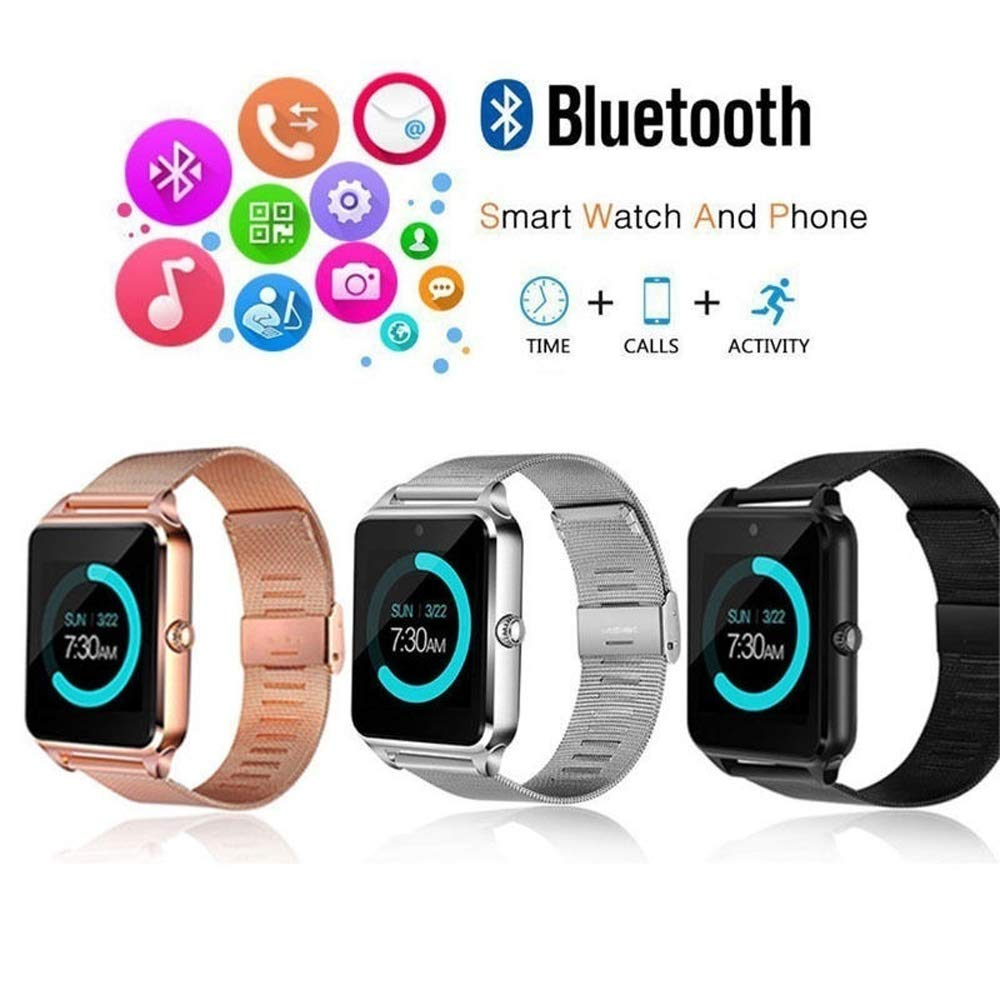 Onbio Bluetooth Smart Bracelet All-Day Heart Rate Sleep Sedentary Reminder Weather Sports Sweatproof 1.54 inch Full Color Smart Watch