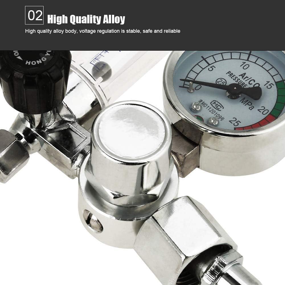 lubricador de Agua para soldar Soldadura Mig TIG compresor neum/ático Cocoarm Regulador de presi/ón de Aire comprimido regulador de presi/ón de Aire con man/ómetro 0-25MPa