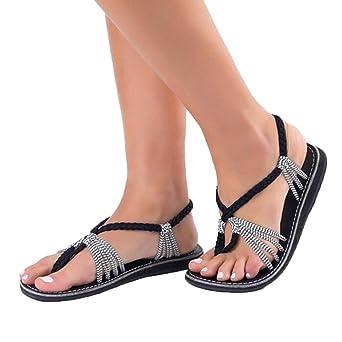 Sandalen Damen Badeschuhe Casual Rutschfest Pantoletten Badelatschen Solide Knöchelriemen Slipper Flip-Flops Stilvoll Elegant Sandalette Strand (EU:34=CN:35, Wein)