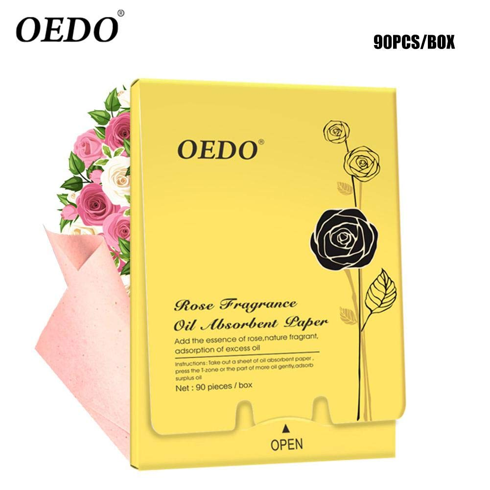 90/270pezzi Rose peptid Oil Absorbing Sheets by Clean Clear for Unisex Lady Cosmetic Facial Oil Control Blotting Paper Sheets–colinsa