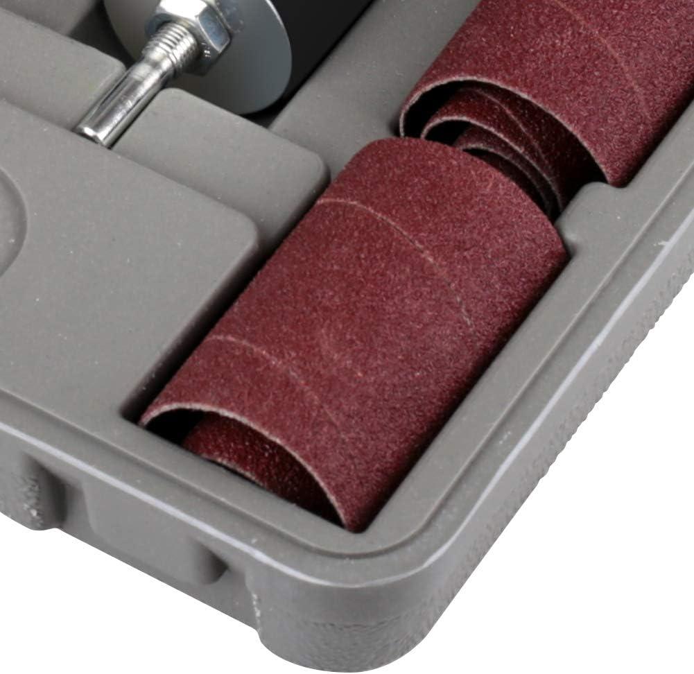 MJ style 20pcs//Set Sanding Drum Kit with Case Rubber Sanding Drums Spindle Sander Sleeves for Woodworking