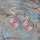 Cute Little Spiral Earrings: Handmade Jewelry That Empowers Moms to Rise Above Poverty. Handmade with Love in the Dominican Republic by Madres Jewelry.
