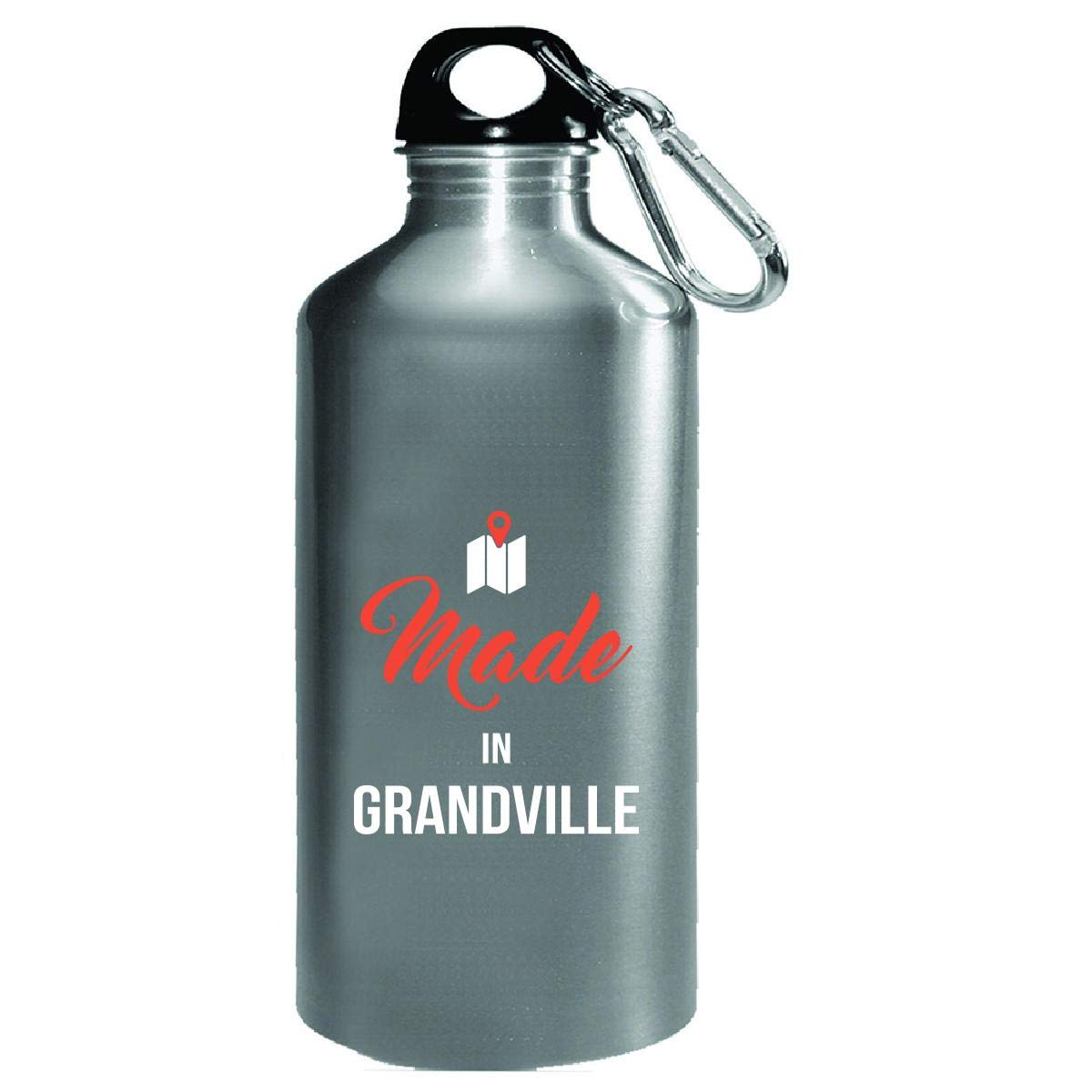 Made In Grandville City Funny Gift - Water Bottle