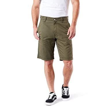 a2cbbb5fcb6 Signature by Levi Strauss & Co Men's Straight Fit Utility Shorts, Olive  Night, ...