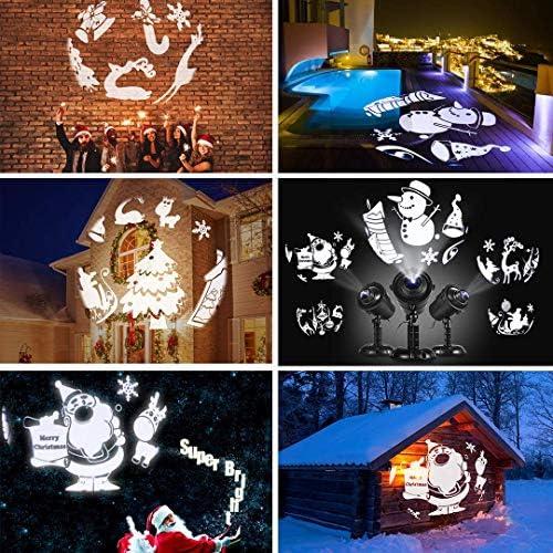 Proyector LED de Navidad, Lámpara de Proyección para Exteriores e ...