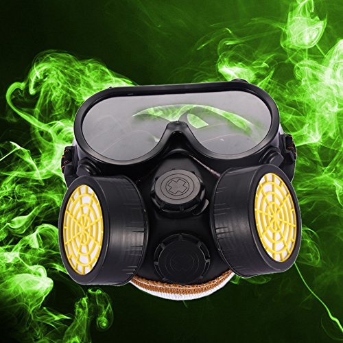 UEB Industrial Gas Chemical Anti-Dust Paint Respirator Mask Glasses Goggles Set
