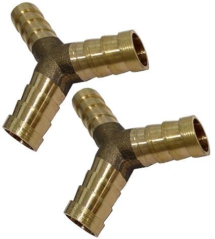 AERZETIX: 2x Conexiones conector triple en Y de aire comprimido compresor ô10mm acoplador de enchufe