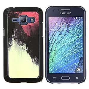LECELL--Funda protectora / Cubierta / Piel For Samsung Galaxy J1 J100 -- Cielo rojo magma bajo el agua --