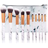 10Pcs Marble Make Up Brushes Sets Blusher Eyeshadow Brushes Cosmetic Concealer Brushes Kits