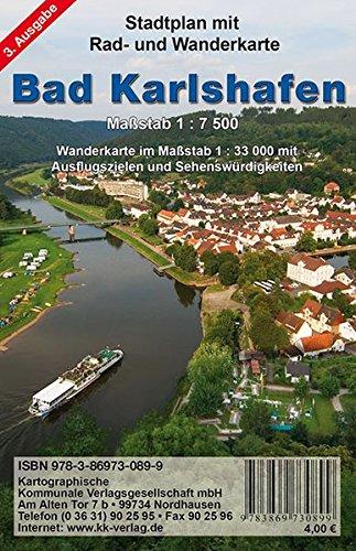 Bad Karlshafen: Stadtplan mit Rad- und Wanderkarte. 1:33000