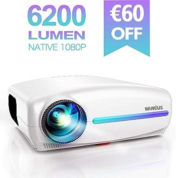 Proyector, WiMiUS 6200 Lúmenes Proyector Full HD 1920x1080P ...