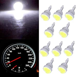 ECCPP T10 Light Bulbs 194 168 Dash Light Bulbs Instrument Panel Gauge Cluster Light,10Pcs White