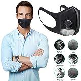 YANGMAN-L Gezichtsmasker, filtermaskers met 3.0 ademend ventiel, anti-condens, anti-pollution, anti-stofmasker, wasbaar…