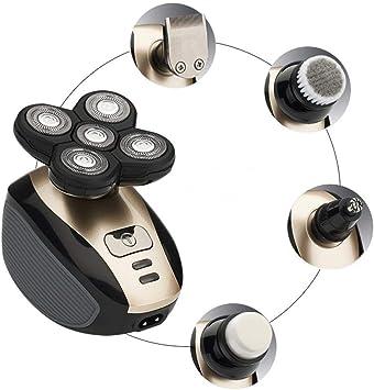 Afeitadora eléctrica 5 en 1 4D, recortadora de barba lavable y ajustable, maquinilla de afeitar de seguridad recargable de 3 cuchillas para hombres, inalámbrica y recargable por USB: Amazon.es: Salud y cuidado personal