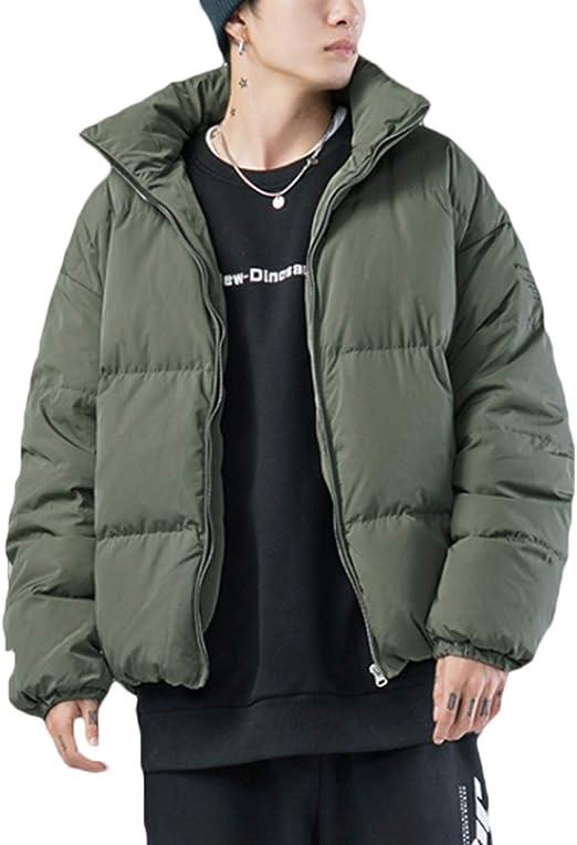 3色 ダウンジャケット ハイネック 無地 ストリート系 シンプル 防寒着 アウター コート メンズ 冬