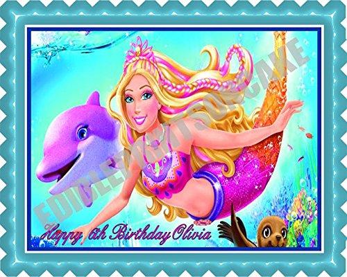 Barbie Mermaid - Edible Cake Topper - 7.5