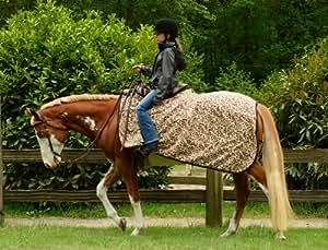 EOUS Fleece Quarter Sheet Horse Blanket, Black, Medium