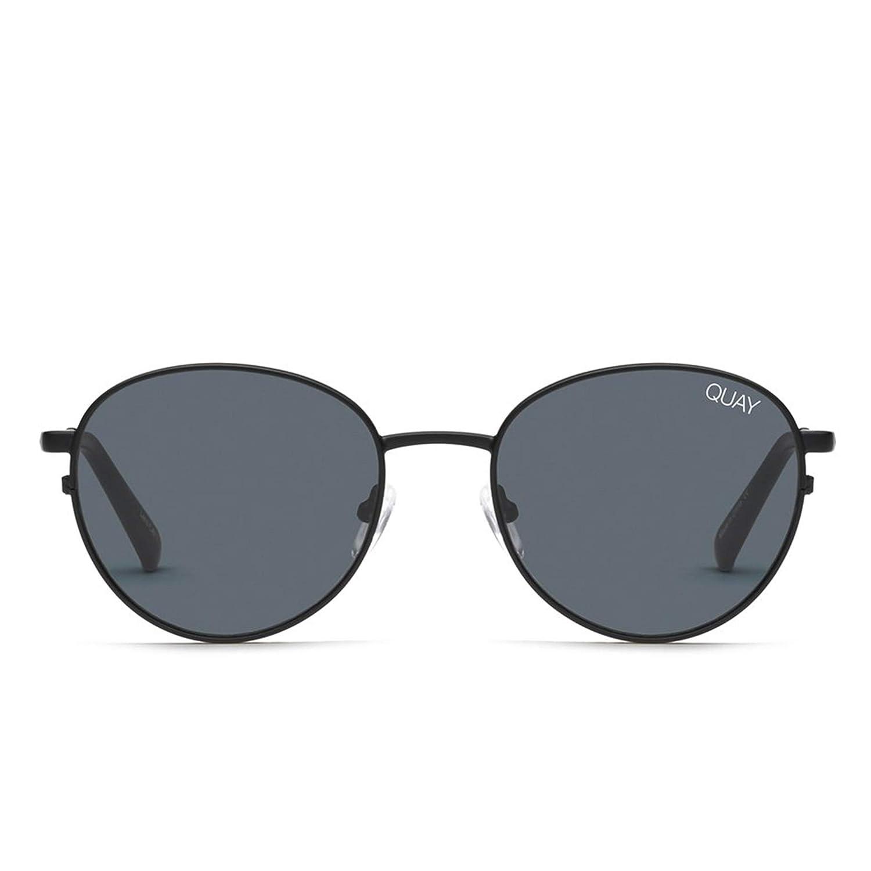 1c6d38fd0 Amazon.com: Quay Australia CRAZY LOVE Women's Sunglasses Classic Round -  Black/Smoke: Clothing