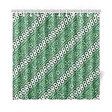 WIEDLKL Home Decor Bath Curtain Batik Pattern Java Indonesia Yogyakarta Colorful Polyester Fabric Waterproof Shower Curtain For Bathroom, 72 X 72 Inch Shower Curtains Hooks Included