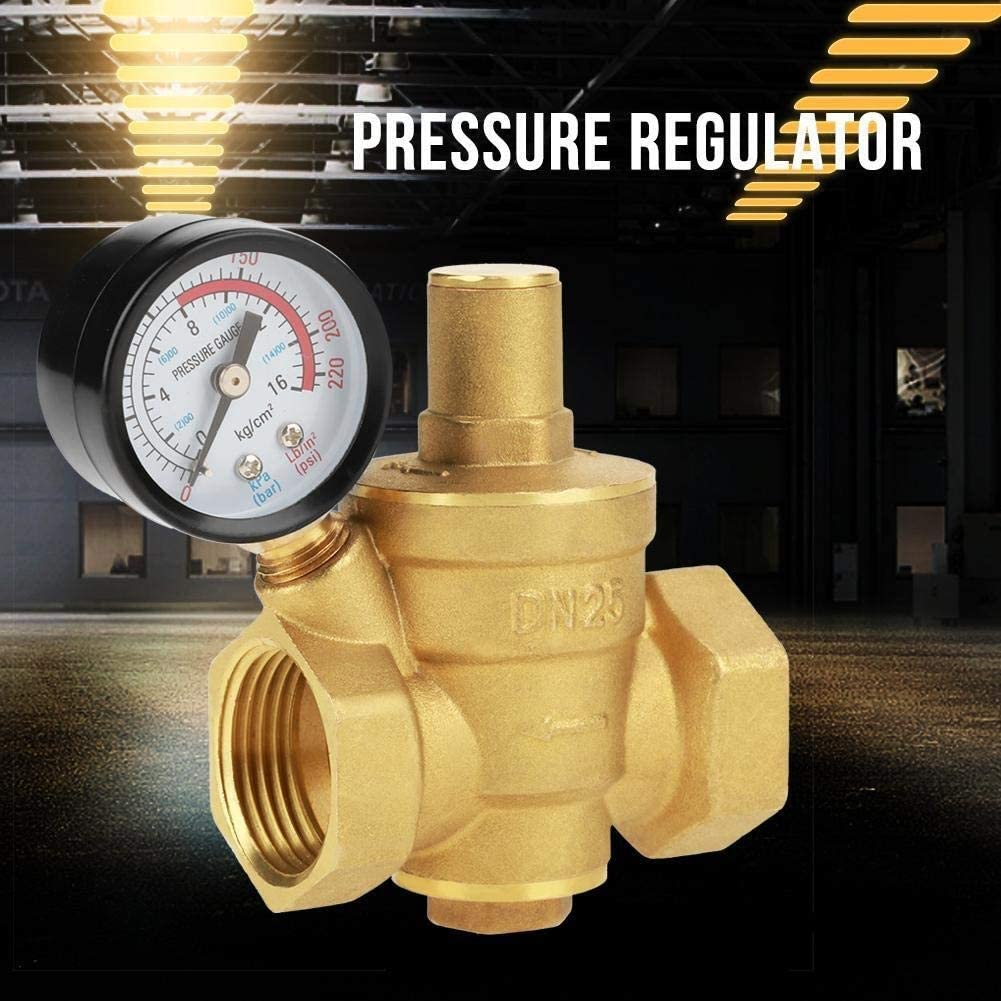 MAGT DN25 R/églable En Laiton Pression Deau Durable R/éduction De R/égulateur R/éducteur R/égulateur De Pression 1.6MPa Voie M/étrique