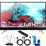 """Samsung UN40K5100A 40"""" Full HD 1080p LED HD TV Cord Bundle Includes, Durable HDTV and FM Antenna + 2x 6ft High Speed HDMI Cable + Screen Cleaner (Large Bottle) for LED TVs"""