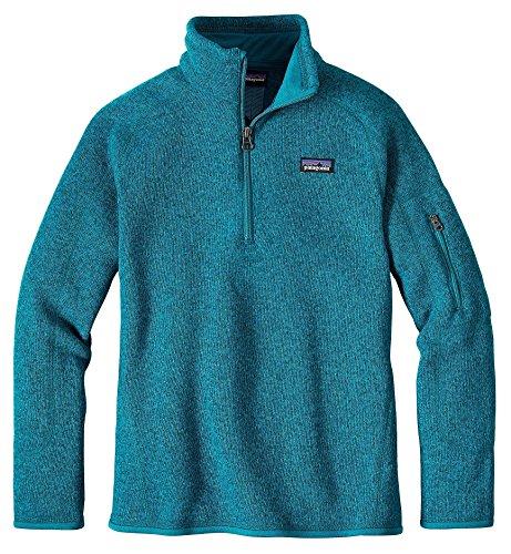 Patagonia G Better Sweater 1/4 Zip Sweatshirt Elwha Blue Girls L by Patagonia