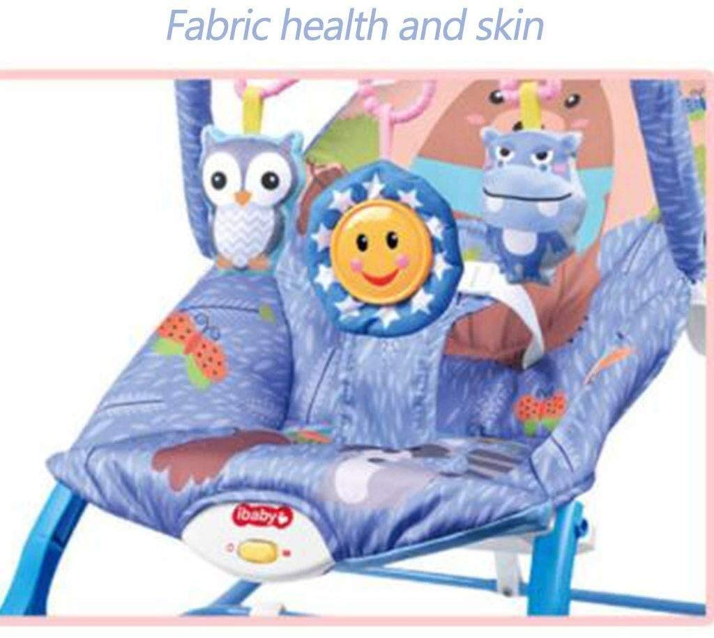 HNSYDS Baby Rocking Chair with 3 Hanging Toys, Gifts, Music Melody Soothing Vibration Baby Bouncing Reclining Chair B Baby Rocking Chair (Color : B) by HNSYDS
