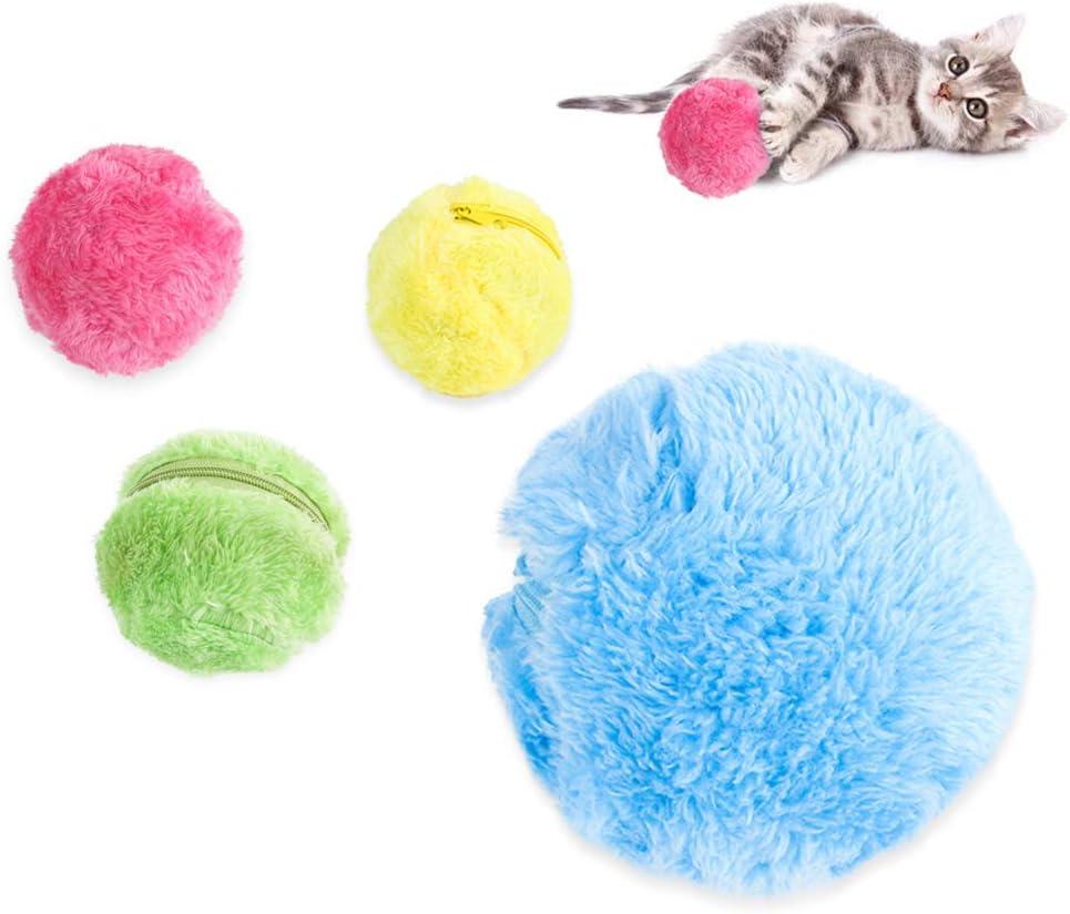 Ruiting Magic Roller Ball,Bola para Mascotas de Rodillos Automática,Bola mágica para Perros y Gatos,Juego Bola Juguetes para Mascotas (Color Aleatorio)