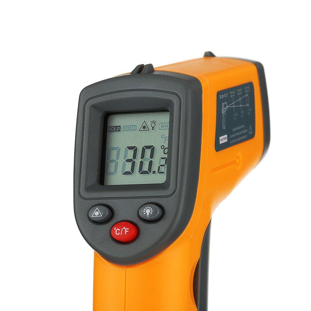 windyus IR láser digital termómetro de infrarrojos pistola de temperatura, sin contacto herramienta para -50 A 360 °C (-58 a 680 ℉) - rápido leer - para ...