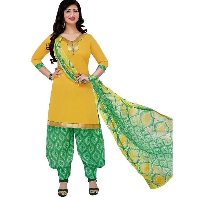 798988d703 Ready to Wear Patiala Salwar Printed Cotton Salwar Kameez Suit: Amazon.co.uk:  Clothing