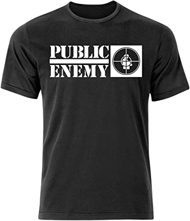 Enemigo público Hip Hop camiseta de manga corta (S-3 X L) Rap NWA/Run DMC Old Skool: Amazon.es: Hogar