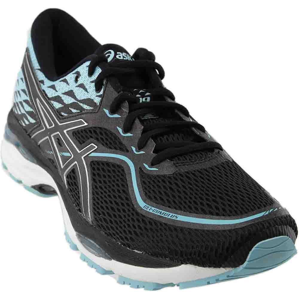 bb18edcb Asics Womens Gel-Cumulus 19 Black/Porcelain Blue/White Running Shoe - 9