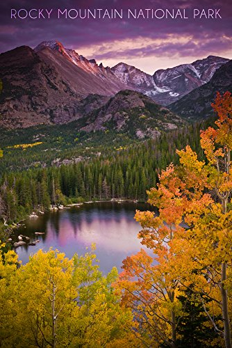 (Rocky Mountain National Park, Colorado (12x18 Signed Print Master Art Print w/Certificate of Authenticity - Wall Decor Travel Poster) )