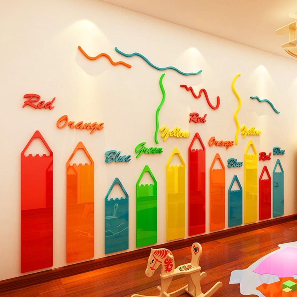 DWW-Wandsticker Wandsticker Acrylstifte Kinderzimmer Wanddekoration 3D Wasserfest Einfache Installation Wandsticker ( größe : L )