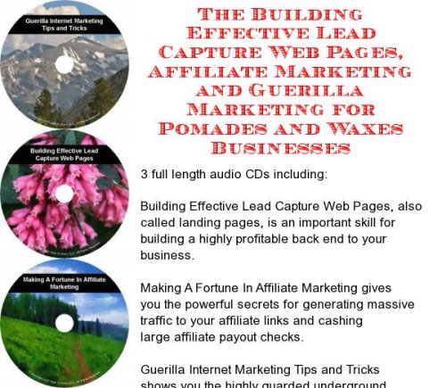 Pomade Web (The Guerilla Marketing, Building Effective Lead Capture Web Pages, Affiliate Marketing for Pomades and Waxes Businesses)