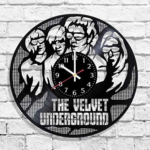 (BombStudio The Velvet Underground Vinyl Record Wall Clock, The Velvet Underground Handmade for Kitchen, Office, Bedroom. The Velvet Underground Ideal Wall)