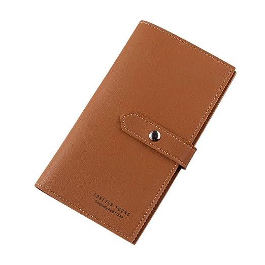 793efc627bdc Hattfart Leather Wallets for Men- Travel Wallet Slim Wallet Mens Leather  Wallet with Blocking Card