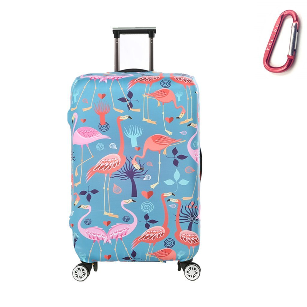 Ymeibe Travel Suitcase Cover Protector Luggage Protective Cover Washable Printed Zipper Baggage Suitcase Cover