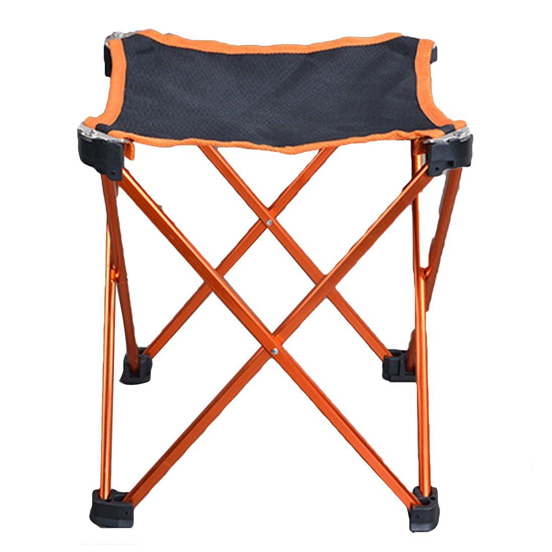 Hi Suyi超軽量ポータブル折りたたみキャンプ椅子スツールforビーチガーデンピクニックアウトドアキャンプ旅行、アルミニウム合金フレーム、anti-tearのオックスフォード布カバー滑り止め足、キャリアバッグ B073XKSZY9 オレンジ オレンジ