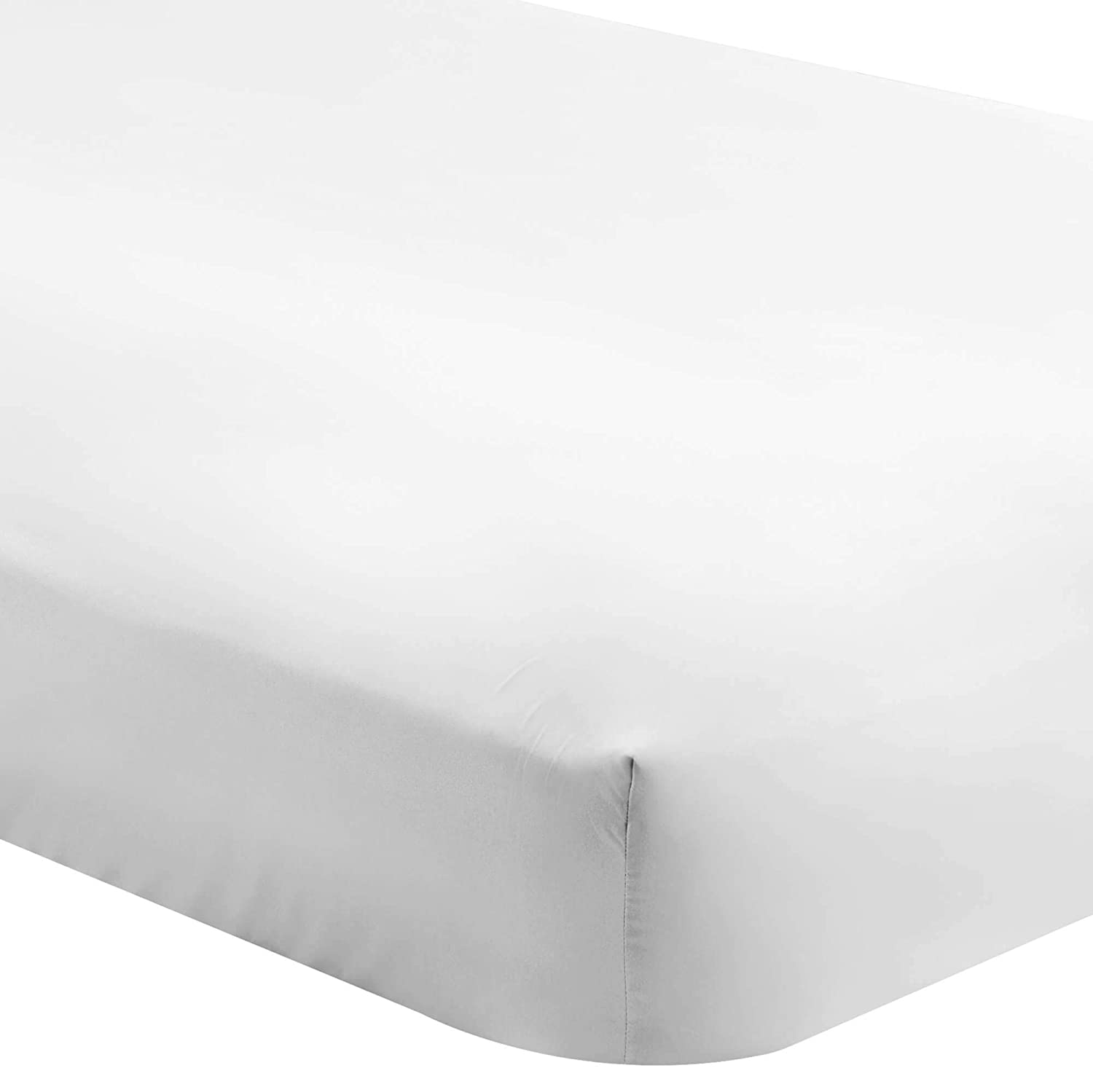 Bare Home Fitted Bottom Sheet Twin - Premium 1800 Ultra-Soft Wrinkle Resistant Microfiber - Hypoallergenic - Deep Pocket (Twin, White)
