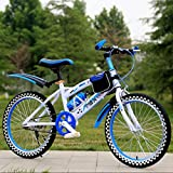 Kids Balance Bike Child Learning Training Cycle Lightweight 6-12 Years Children Boys Girls Running Safety First Mountain Bike , blue