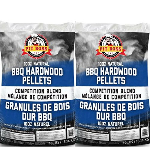 Pit Boss BBQ Wood Pellets, 40 lb., Competition Blend (Wood Pellet Barbecue)
