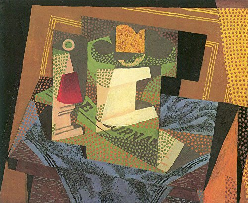 The Museum Outlet - Fruit bowl on a table cloth by Juan Gris - A3 Poster