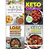 Keto comfort foods, one pot ketogenic diet cookbook, keto diet for beginners and keto crock pot cookbook 4 books collection set